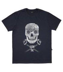 camiseta alkary caveira bmx cinza