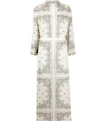 tory burch bandana-print cotton dress - neutrals