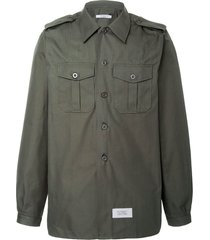 cotton and linen military shirt