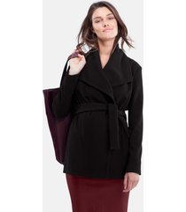 women's isabella oliver 'melrose' wrap maternity coat, size medium - black