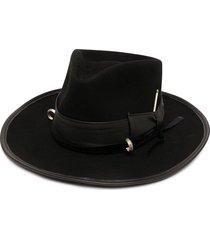 nick fouquet louise bow hat - black