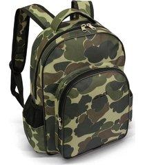 mochila masculina 4 divisões ls mo4141 estampa camuflado
