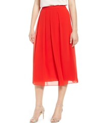 women's anne klein pleated midi skirt