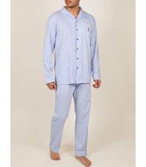 pyjama's / nachthemden admas for men innerwear pyjamabroek shirt broek frisse en zachte marine