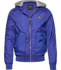 ams blauw bomber jacket with blauw quilting bomberjacka jacka blå scotch & soda