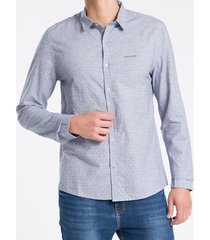 camisa ml slim jacq s bols amac - azul marinho - gg