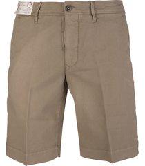 taupe cotton man bermuda shorts