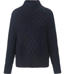 trui met lange mouwen en staande halsboord van joop! jeans blauw