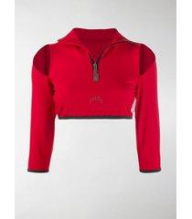 a-cold-wall* slit shoulder crop top