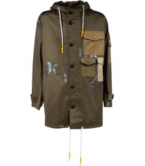 palm angels military parka