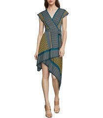 printed faux wrap dress