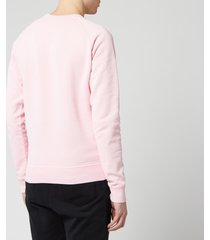 dsquared2 men's raglan logo sweatshirt - pink - l