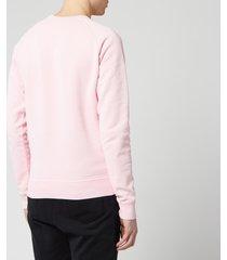 dsquared2 men's raglan logo sweatshirt - pink - l