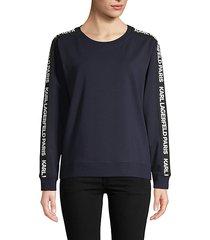 logo-taped stretch sweatshirt
