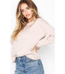 selected femme slfminna ls knit o-neck noos stickade tröjor ljus rosa