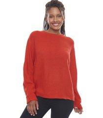 sweater oversize rojo  corona