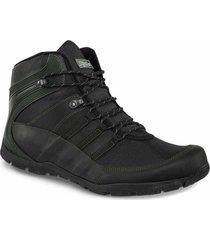 botas outdoor abramio negro-verde para hombre croydon