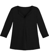 linnen jersey shirt, zwart 40