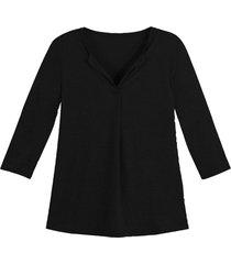 linnen jersey shirt, zwart 44/46