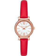reloj fashion rojo michael kors