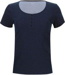 camiseta puntos con pechera color azul, talla 10