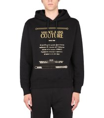 versace jeans couture sweatshirt with logo embroidered