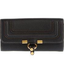women's chloe marcie leather flap wallet -