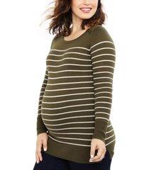 motherhood maternity striped sweater