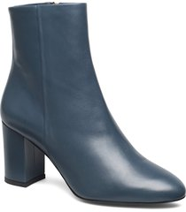 miranda high bootie shoes boots ankle boots ankle boot - heel blå filippa k