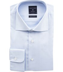 overhemd profuomo blauw strijkvrij regular fit