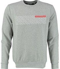 antony morato zachte grijze stretch sweater