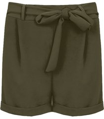 basic strik shorts legergroen
