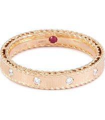 'princess' diamond 18k rose gold ring