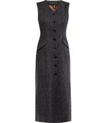herringbone wool dress