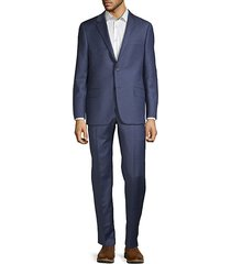 classic fit milburn iim series micro-check wool suit