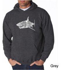 la pop art men's word art hoodie - shark species
