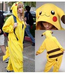 new pikachu kigurumi pajamas  fancy dress anime pokemon onesie cosplay costume