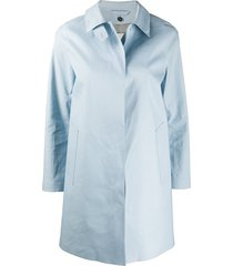 mackintosh dunoon short coat - blue