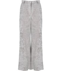 alberta ferretti ribbed velvet trousers