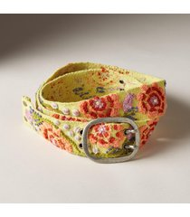 jenny krauss women's island blossoms wool belt