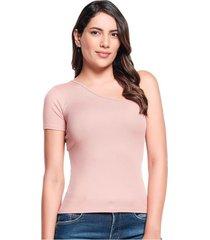 blusa slim palo de rosa