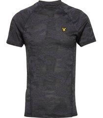 camo sports tee t-shirts short-sleeved grå lyle & scott sport