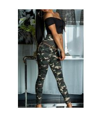 sexy skinny hoge taille jeans camouflage