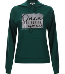 buzo mujer once color verde, talla s