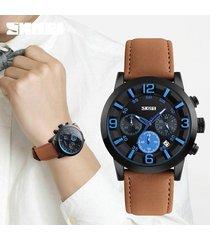 reloj de negocios multifuncional para hombres-marrón