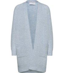 slflulu ls knit long cardigan gebreide trui cardigan blauw selected femme