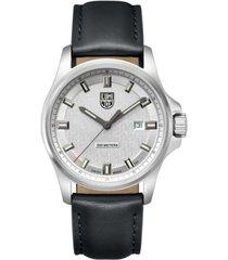 luminox men's 1839 dress field stainless black leather strap watch