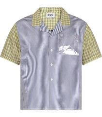 natasha zinko colorful boy shirt with white logo