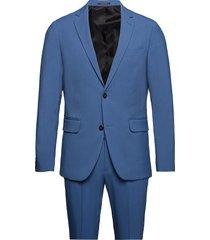 plain mens suit kostym blå lindbergh