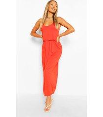 maxi-jurk met racerback, oranje